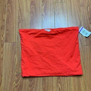 Topshop Solid Red Strapless Tube Crop Top 12